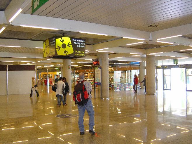 место встречи Майорка аэропорта.