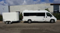 Minibus with trailer in Mallorca